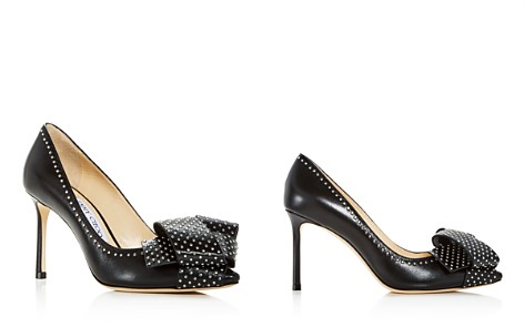 Jimmy Choo Women's Tegan 85 Studded Leather High Heel Pointed Toe Pumps - Bloomingdale's_2